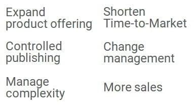 luettelo kaupallisen tuotetiedonhallinnan hyödyistä