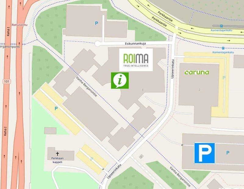 Roima Espoo office on a map