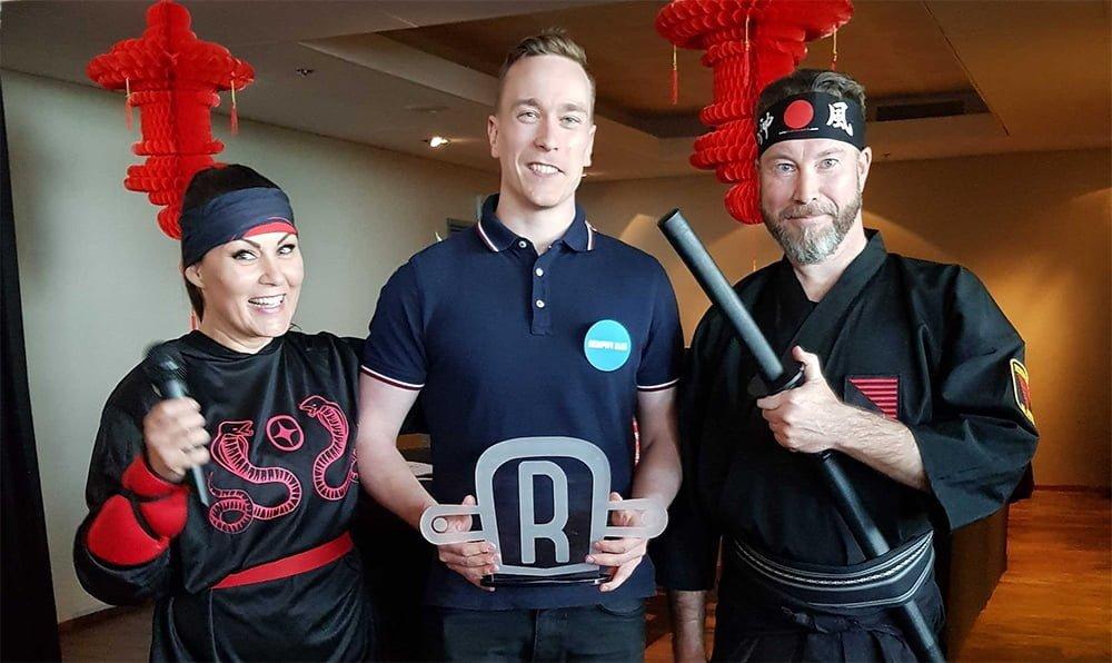 valokuva jossa ninjat ja roimalainen