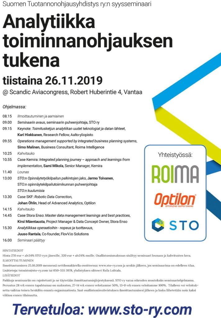 STO ry syysseminaari 2019 ohjelma