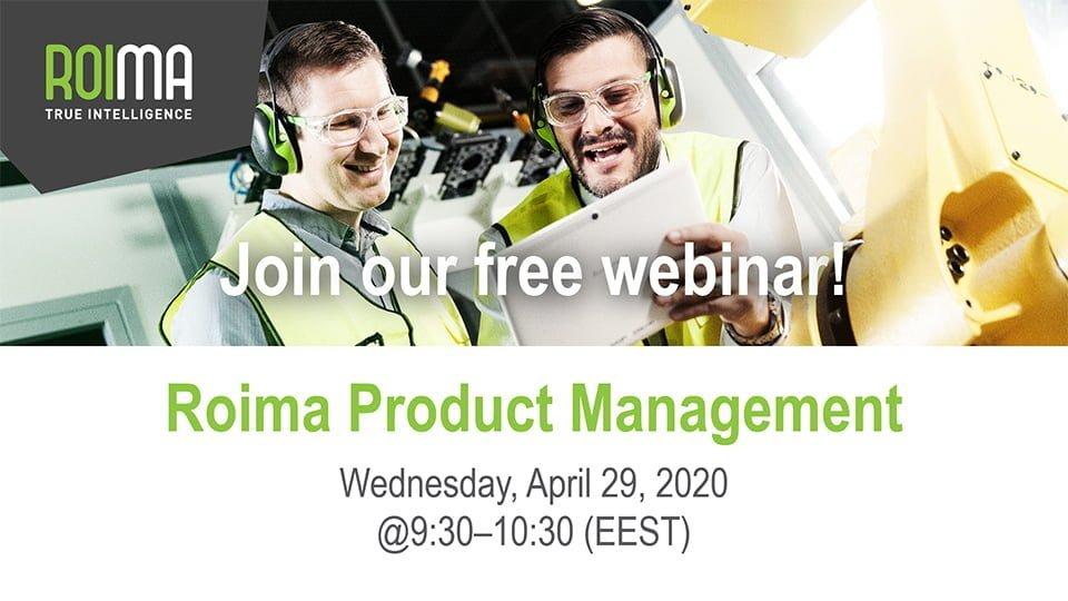 Roima Webinar Product Management